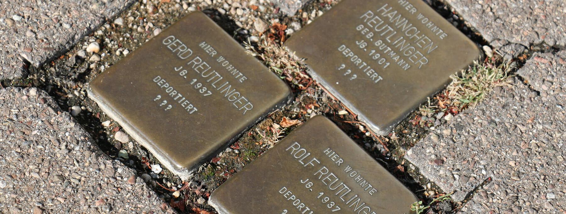 Drei Stolpersteine in Kirchheim unter Teck