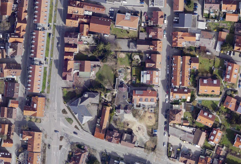 Luftbild des Kirchheimer Linde-Areals
