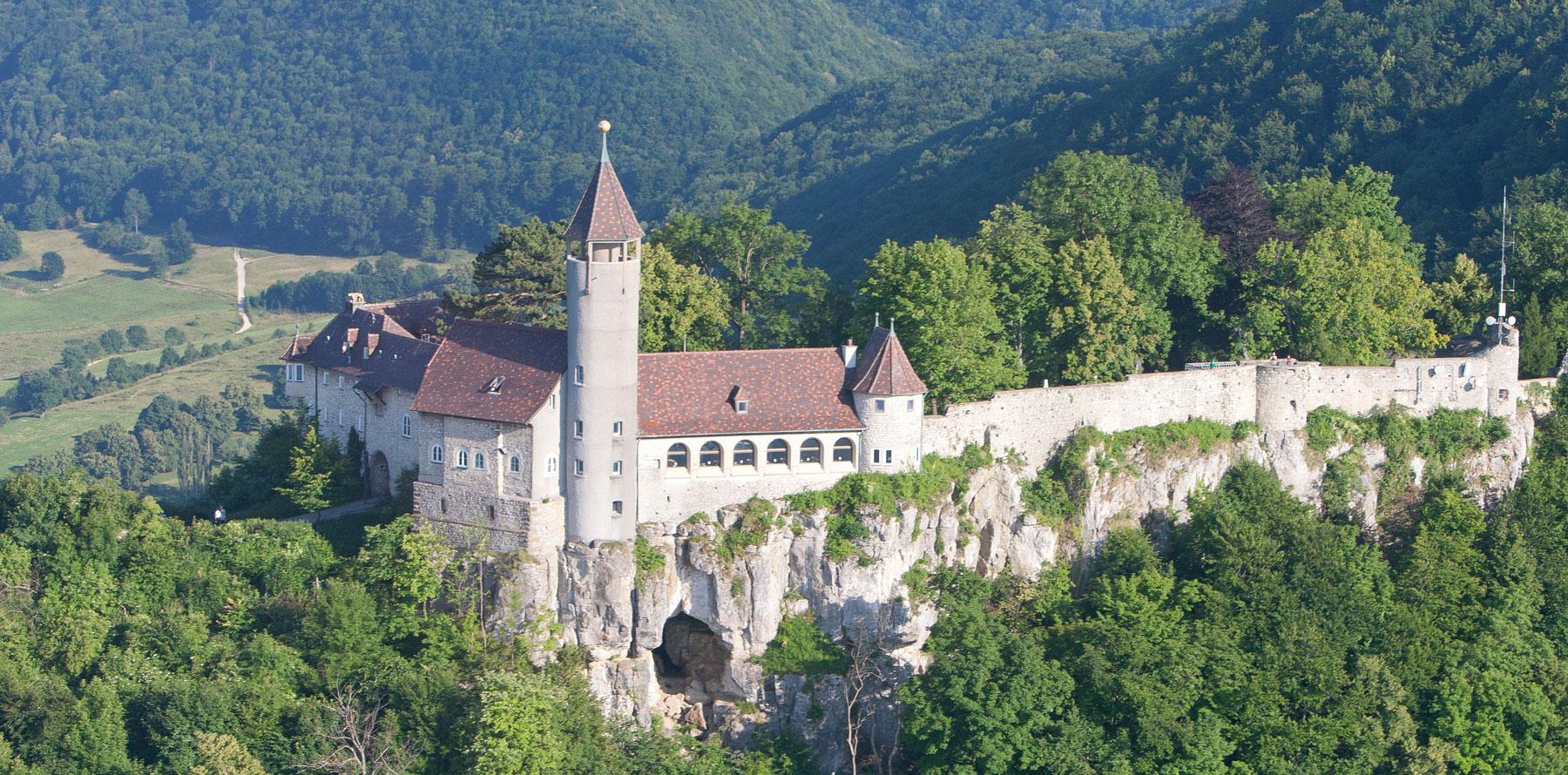 Burg Teck von oben