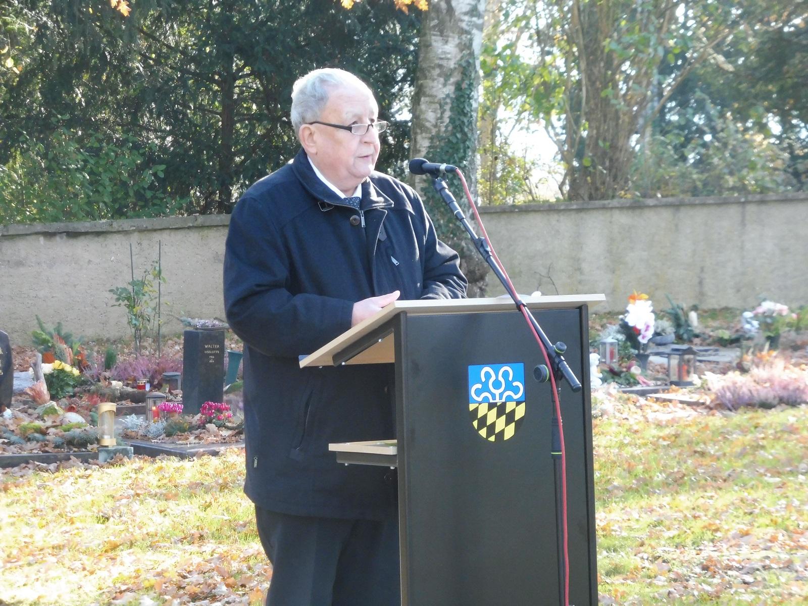 Rede von Ortsvorsteher Kik zum Volkstrauertag am 18.11.2018