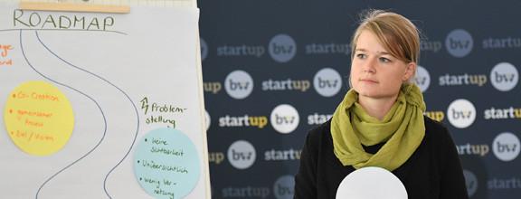 Wirtschaftsförderin Saskia Klinger bei der Start-up Baden-Württemberg Veranstaltung für gründerfreundliche Kommunen
