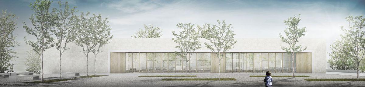 Ansicht Eduard-Mörike-Mehrzweckhalle © Herrmann + Bosch Architekten