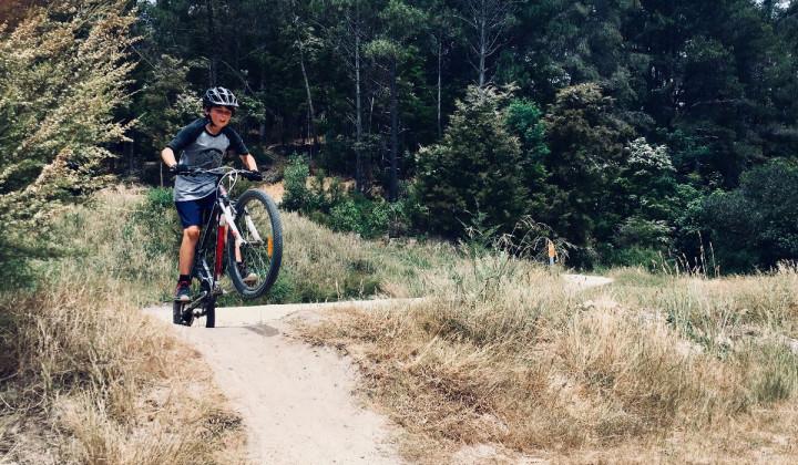 Ein Junge mit seinem Fahrrad in einem Dirtpark © Pexels.com (D123x)