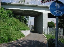 Gemeinsamer Geh- und Radweg im Bereich Stellegärten/Spitzwegstraße