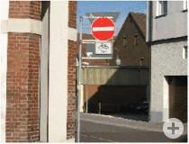 Führung des Radverkehrs gegen die Einbahnrichtung in der Gerberstraße