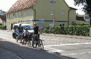 Fahrradschutzstreifen in der Jahnstraße
