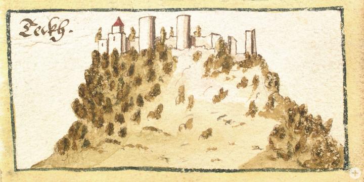 Skizze Burg Teck