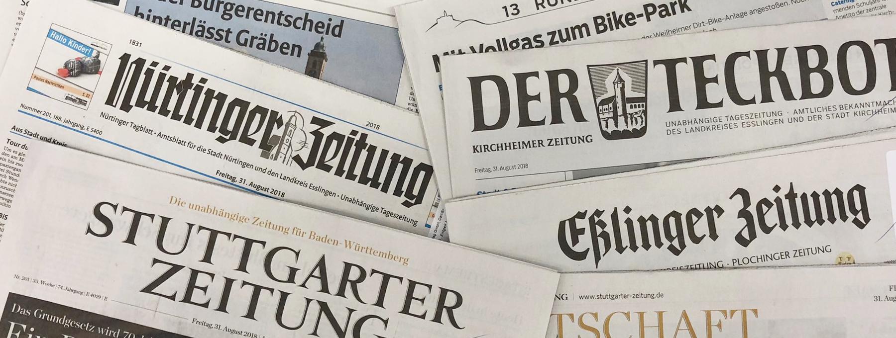 Zeitungen aus der Region