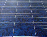 Solarzellen in Nahaufnahme