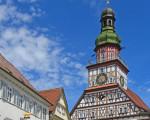 Blick auf den Kirchheimer Rathausturm