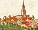 Auschnitt einer alten Ansichtskarte von Jesingen