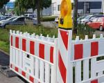 Eine Baustelle für die Glasfaseranbindung im Gewerbegebiet Kruichling.