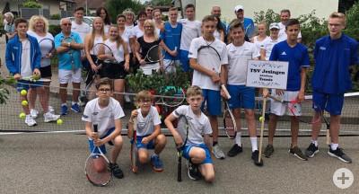 Die Tennisabteilung bei der 1250 Jahrfeier in Jesingen