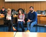 """OBin Matt-Heidecker im Gespräch mit Schülern im Rahmen des Aktionstages """"Schule trifft Rathaus"""""""