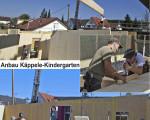Baufortschritt des Kindergarten im Käppele in Jesingen