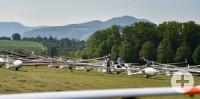Startaufstellung Hahnweide Segelflug Wettbewerb