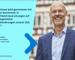 """Dr. Pascal Bader erklärt die Teilnahme von Kirchheim unter Teck an der Kampagne """"UpdateDeutschland"""""""