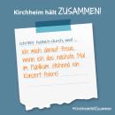 Es ist ein Bild zu sehen auf dem steht: Kirchheim hält zusammen, Ich/wir halten durch, weil ich mich auf das nächste Konzert freue.