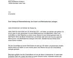 Seite 1 des Briefes des Gemeinderates an die Schülerinnen und Schüler der Lindachschule