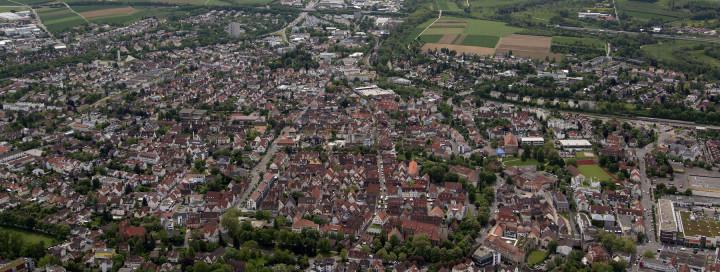 Luftbild von Kirchheim unter Teck