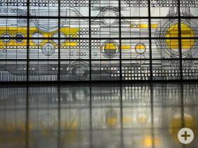 Glasbild auf dem Kunstweg