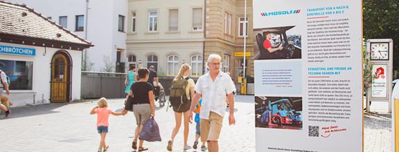 Ausstellung Forum für Talente in der Kirchheimer Innenstadt im Sommer 2017