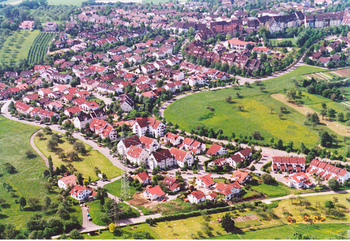 Ein Lufbild vom Kirchheimer Schafhof