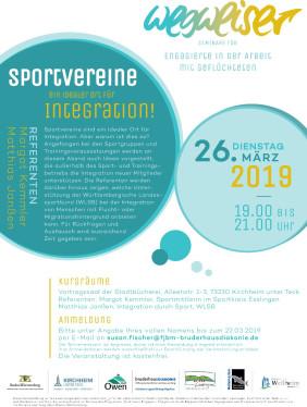 """Flyer für das Seminar """"Integration durch Sport"""" am 26.03.2019 (PDF)"""