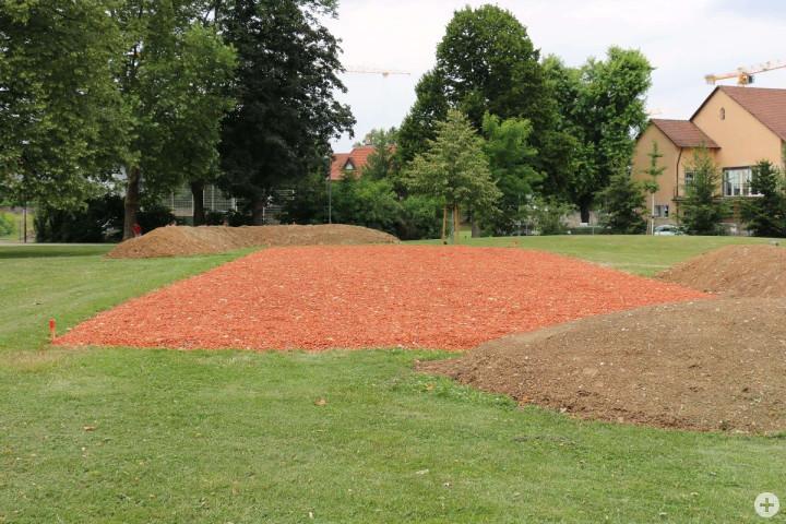 Die fertiggestellte Ausstellungsfläche im Bürgerpark