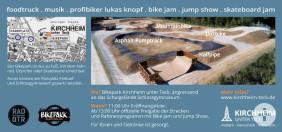 Flyer zur Eröffnung des Bikeparks_Rückseite