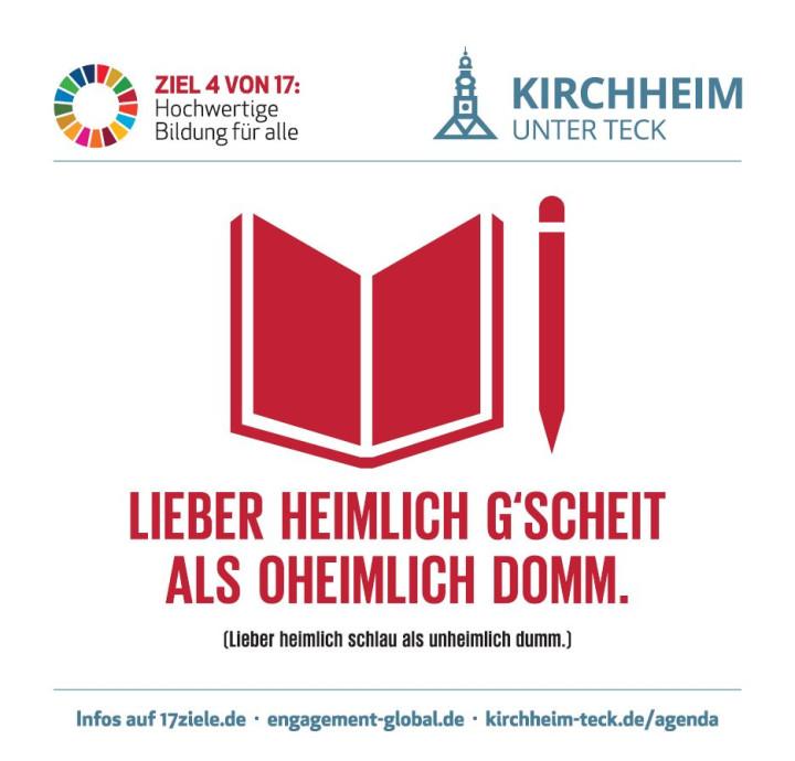 Nachhaltigkeit auf dem Bierdeckel - Ziel 4 - Hochwertige Bildung