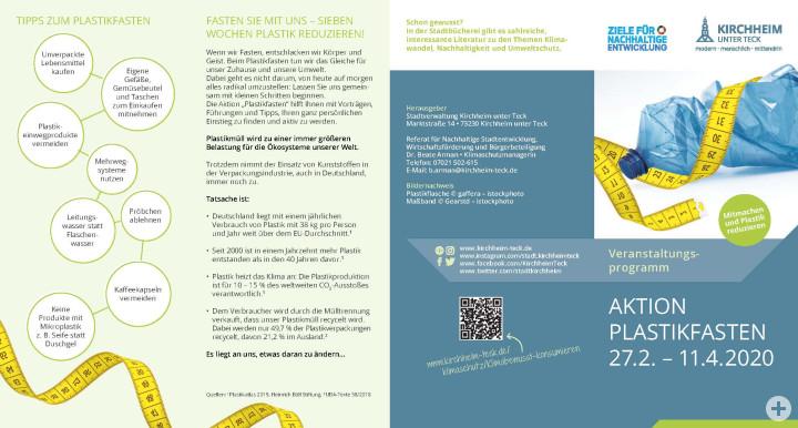 Seite 1 Flyer Plastikfasten