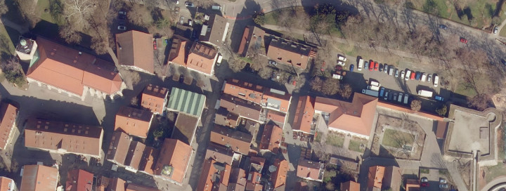 Luftbild Innenstadt Kirchheim unter Teck Marktstraße