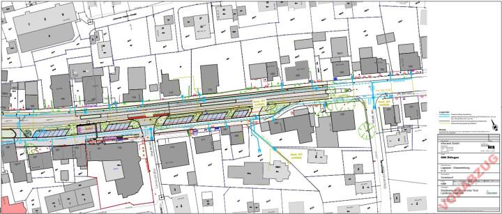 Ein Übersichtsplan, der den Bauabschnitt 2B des Sanierungsgebiets Ortsmitte Ötlingen umfasst.
