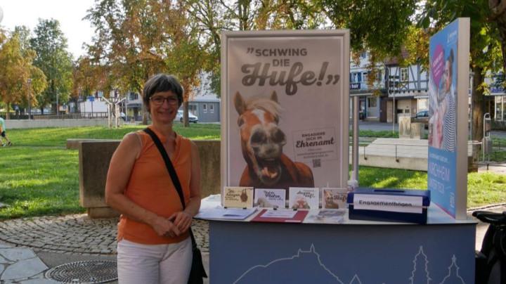 Am 14.09.2020 präsentierte sich anlässlich der bundesweiten Aktionswoche des bürgerschaftlichen Engagements die Fachstelle Bürgerengagement der Stadtverwaltung Kirchheim unter Teck vor der Stadtbücherei.