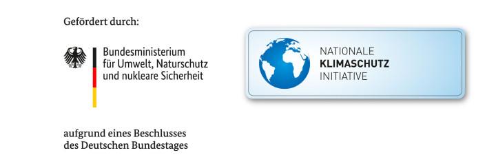 Logos des BMU und der Nationalen Klimaschutz Initiative