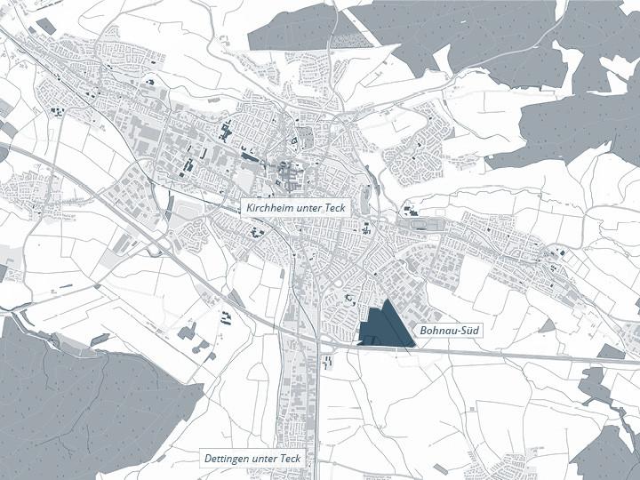 Lageplan geplantes Gewerbegebiet Bohnau Süd
