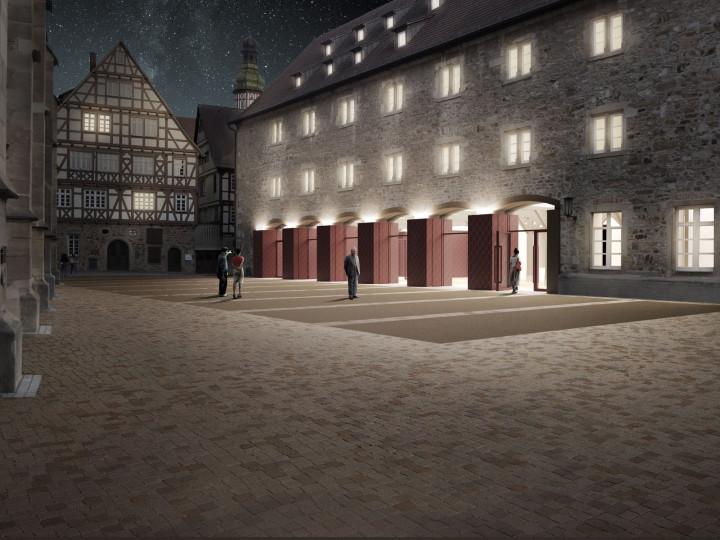 Visualisierung des Martinskirchplatzes