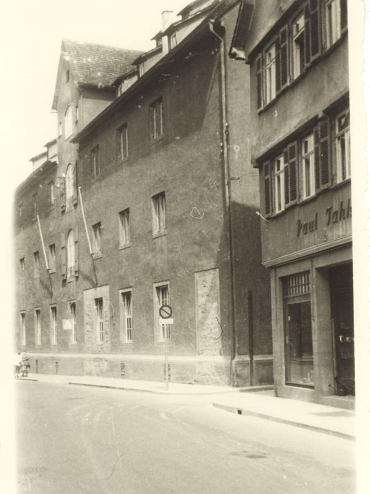 Ansicht des Kornhauses von der Max-Eyth-Straße in den 1940er Jahren