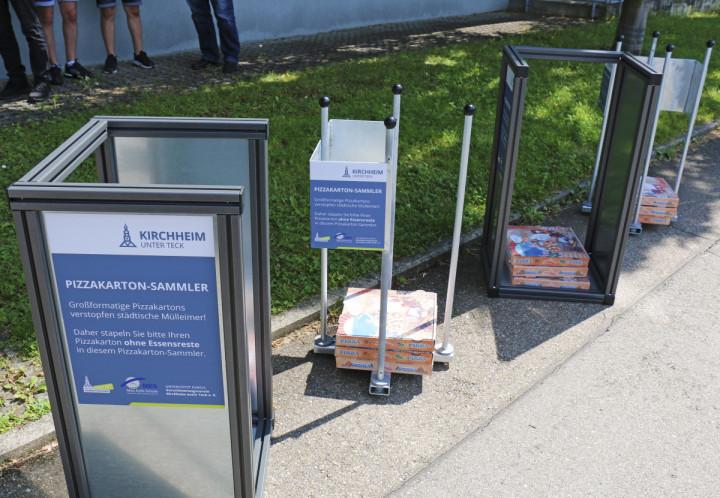 Zwei verschiedene Modelle mit und ohne Seitenwände sind bei der Umsetzung entstanden und befinden sich nun an verschiedenen Orten im Kirchheimer Stadtgebiet testweise im Einsatz.