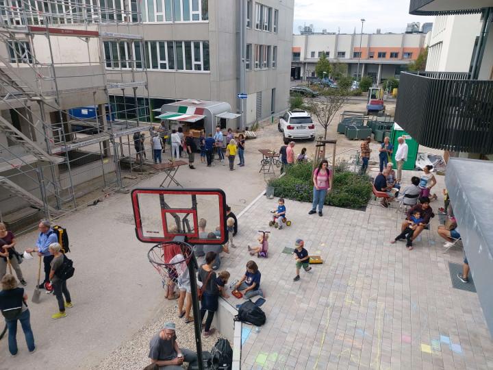 Die Steingau-Aktionstage boten einen kleinen Vorgeschmack auf das städtische Leben, das bei gelungener Nachbarschaft Steingauquartier ermöglicht wird.