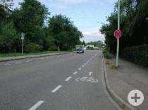 Schutzstreifen in der Schöllkopfstraße