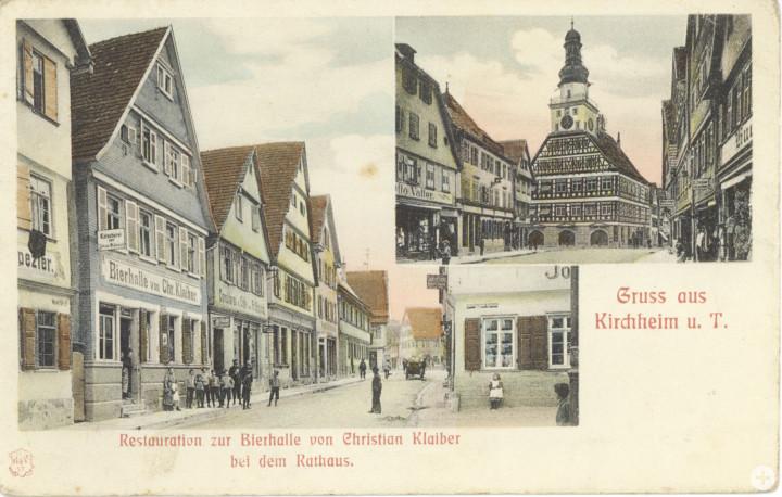 Marktstraße 11 (4tes Haus von links) (StadtA Ki F 15403)