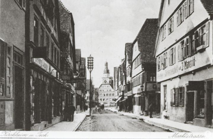 Marktstraße (2tes Haus von rechts) (StadtA Ki F 1309)