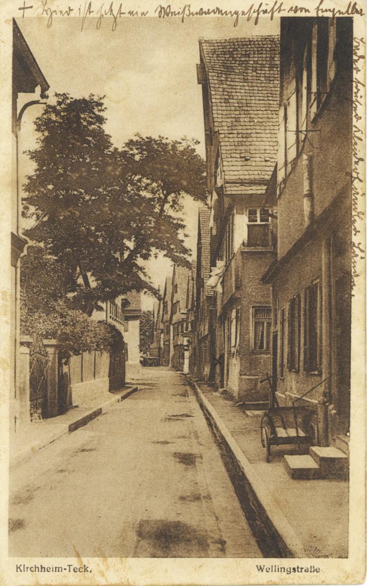 Wellingstraße 2 (2tes Haus v. l.) (StadtA Ki F 15502)