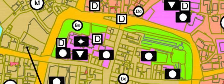 Ausschnitt eines Flächennutzungsplans