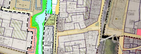 Ausschnitt eines Bebauungsplans von Kirchheim unter Teck